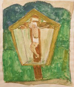 Alfons Walde - Materl - Gouche auf Papier - 17x14 cm
