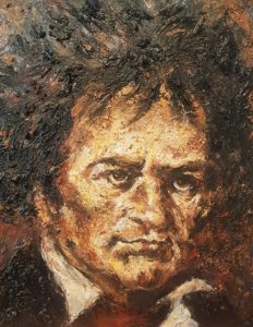 Beethoven - Acryl auf Leinwand - 60x50cm Fine Art