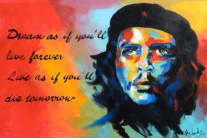 Che Guevara - Acryl auf Leinwand - 100 x 70cm
