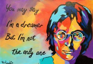 John Lennon - Acryl auf Leinwand - 100 x 70 cm