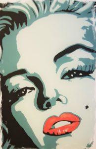 Marilyn Monroe - Farbgrafik auf Papier - 40 x 50 cm