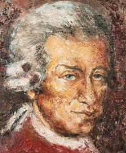 Mozart (fine Art) - Acryl auf Leinwand - 50 x 60cm