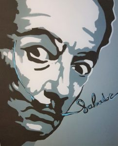 Salvator Dali - Farbgrafik auf Papier - 40 x 50 cm