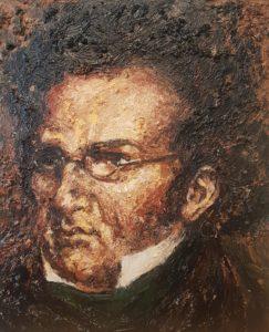 Schubert - Acryl auf Leinwand 60x50cm Fine Art