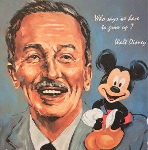 Tribute to Walt Disney - Farbgrafik auf Papier - 40 x 50 cm