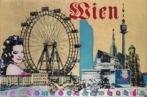 Wien Unikat Siebdruck auf Acrylglas 100x150cm