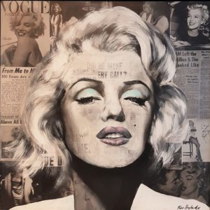 Peter Heylands - Marylin Monroe Acryl auf Leinwand 90 x 90cm