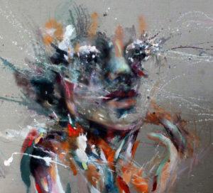 Ferne_100x110-Öl, Acryl auf Leinwand