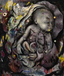 Baby I - 2017 Öl Acryl auf Leinwand 60x50