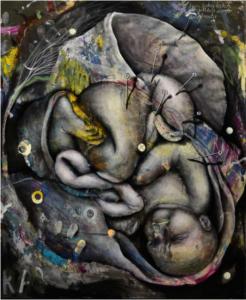 Baby III - 2017 Öl Acryl auf Leinwand 60x50