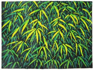 Bambus - Acryl auf Büttenpapier - 60x80cm