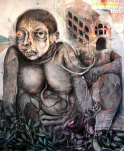 Frau - 2015 Öl Acryl auf Leinwand 100x80cm