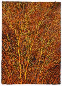 Gorgonie - Acryl auf Büttenpapier - 70x50cm