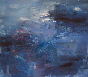 Erzsebet Nagy Saar - Blue - 160x180cm Acryl auf Leinwand